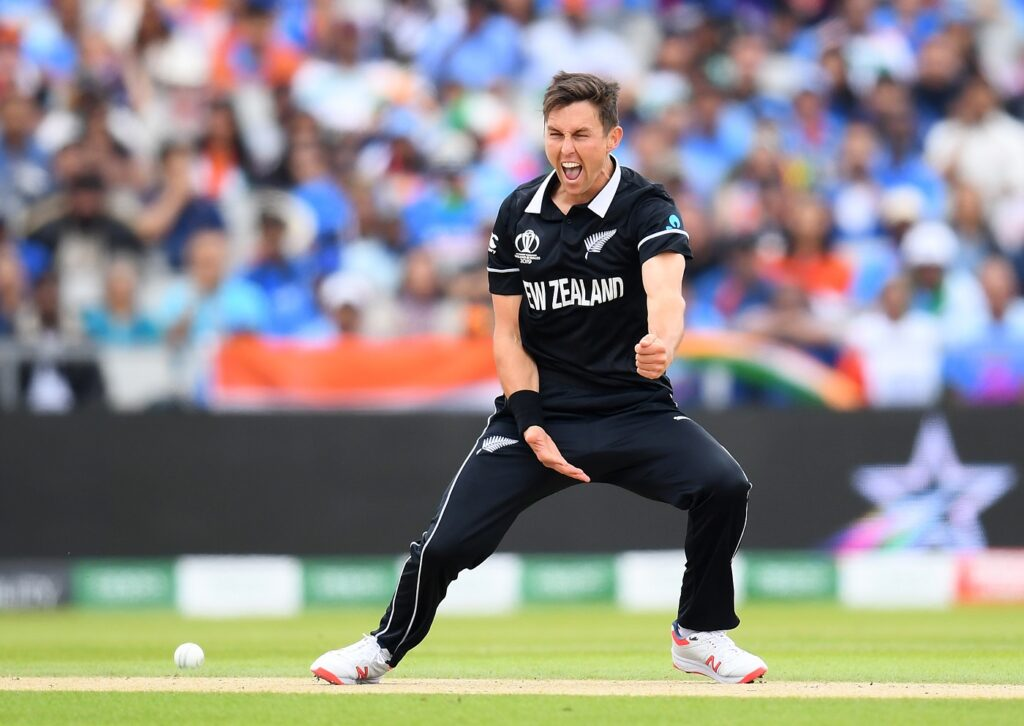 Boult Celebrates after Trapping Kohli LBW for 1