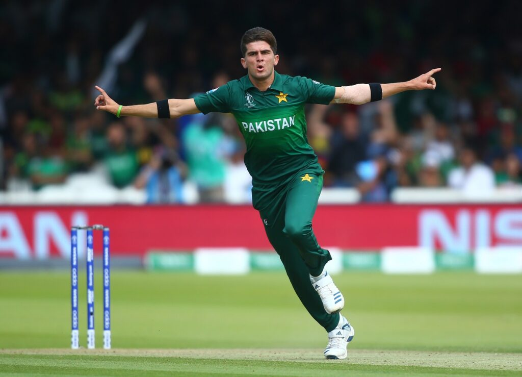 Shaheen Shah Afridi in action during his 6-wicket haul in Pakistan's final WC group game against Bangladesh